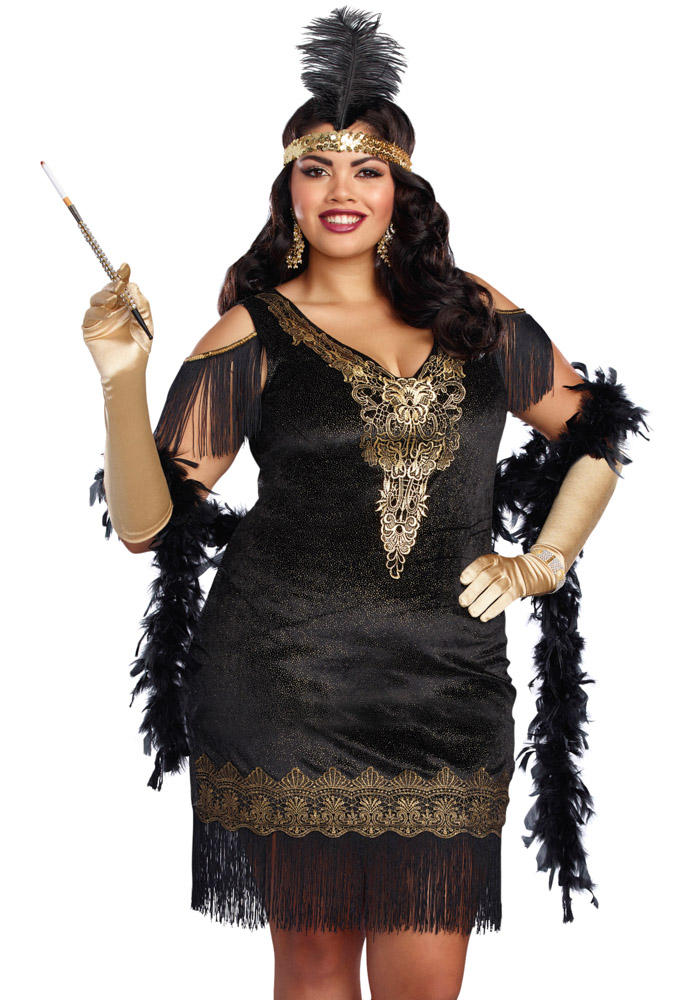 Plus Size Roaring 20s Fringe Flapper Costume Dress Ebay
