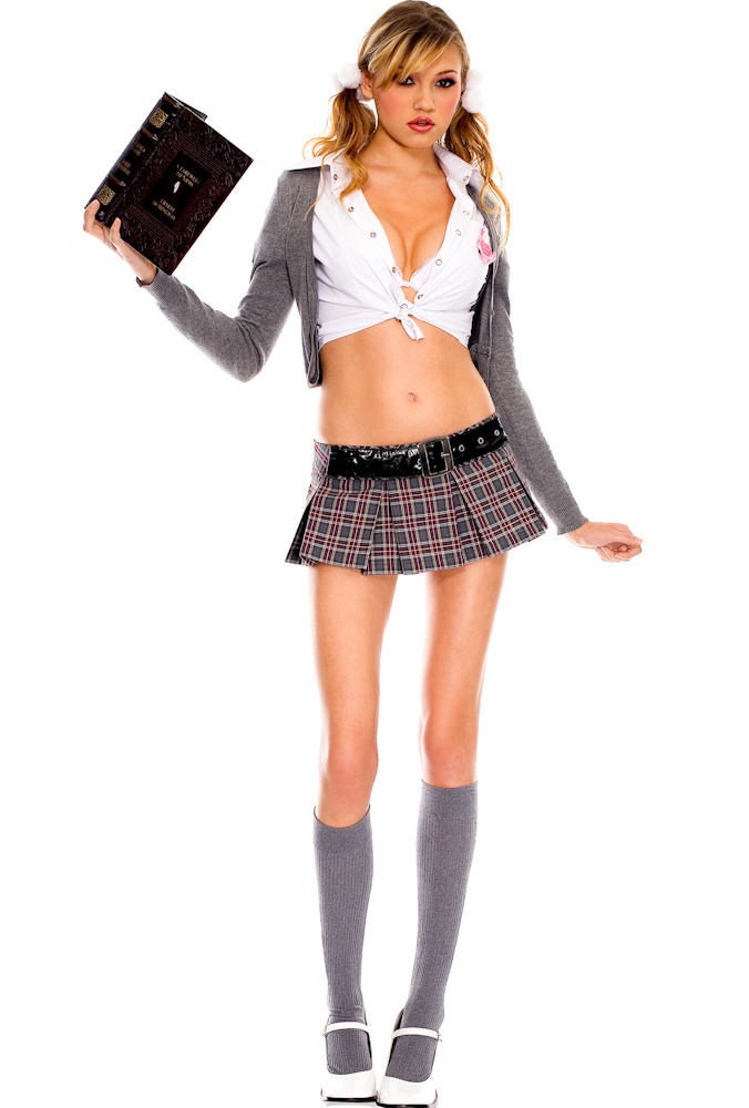 Product Features Pleated mini skirt features a red plaid pattern and an elastic back waistband.