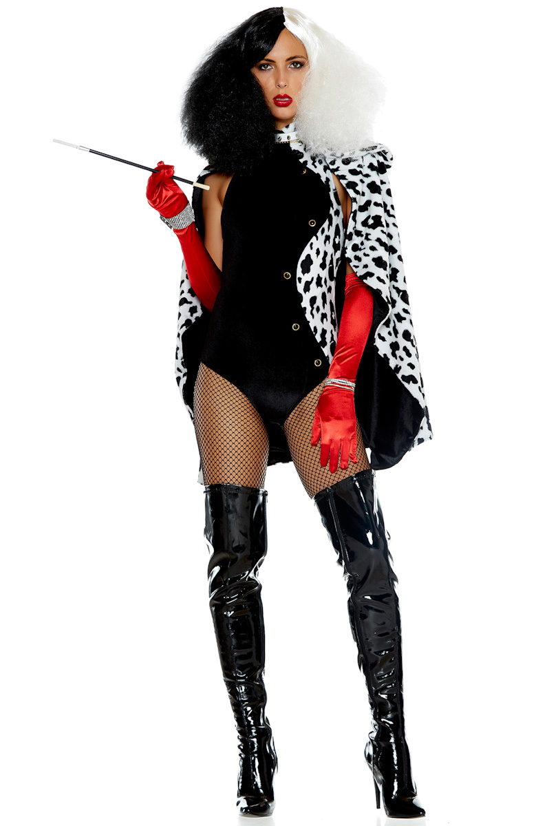 Womens Forplay Cruella Devil Bodysuit Costume Ebay
