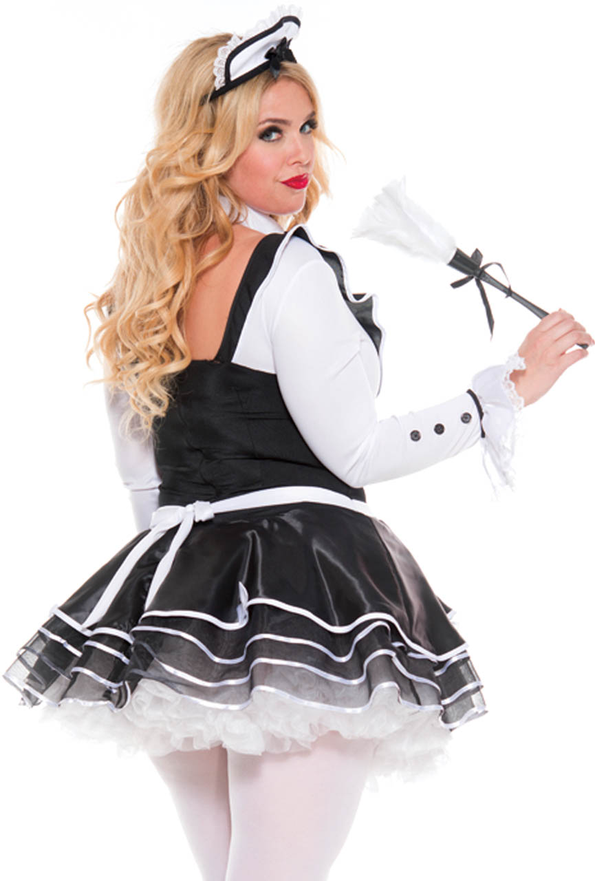 Click on the image below to get zoomed view of the Item  sc 1 st  eBay & Plus size long sleeve French maid womens costume | eBay