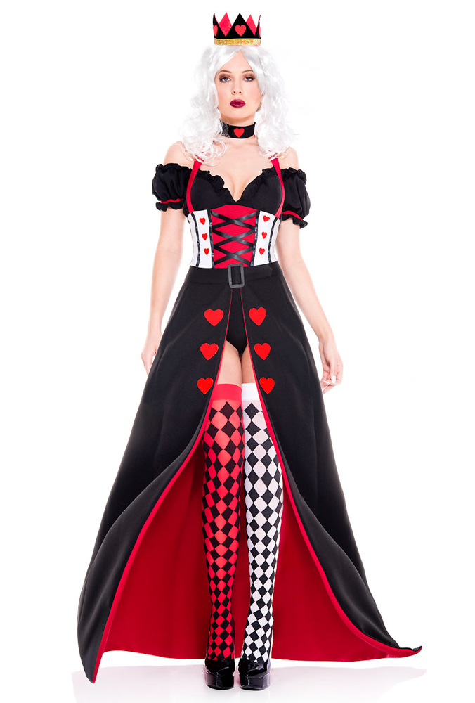 Music legs womens Queen of hearts gown costume | eBay